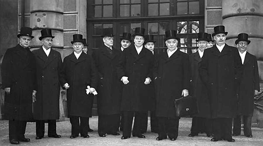 Samlingsregeringen under det andra världskriget, ledd av Per-Albin Hansson.